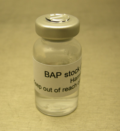 BAP (6-benzylaminopurine) for plant tissue culture.