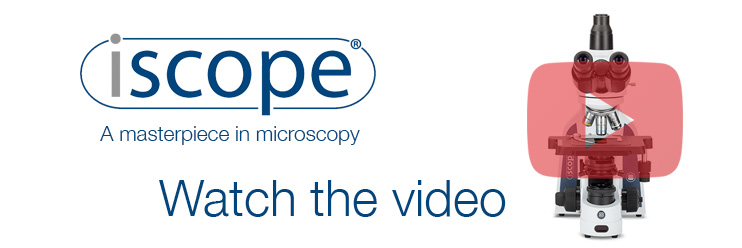 iScope microscope banner